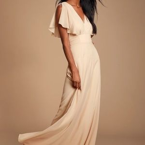 Cream Colored Bridesmaid or Formal Dress (XSmall)